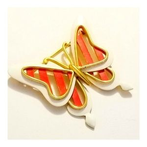 Vintage Couture Trifari Designer Butterfly Brooch